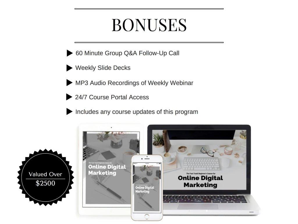 Digital Marketing Bonuses